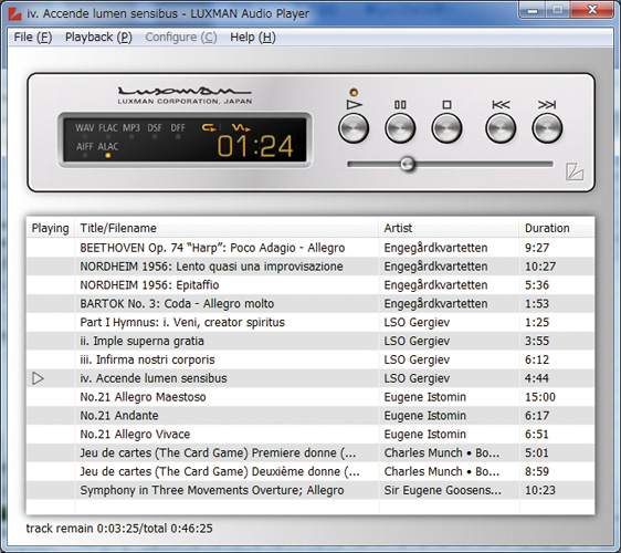Includes high-quality original music playback software
