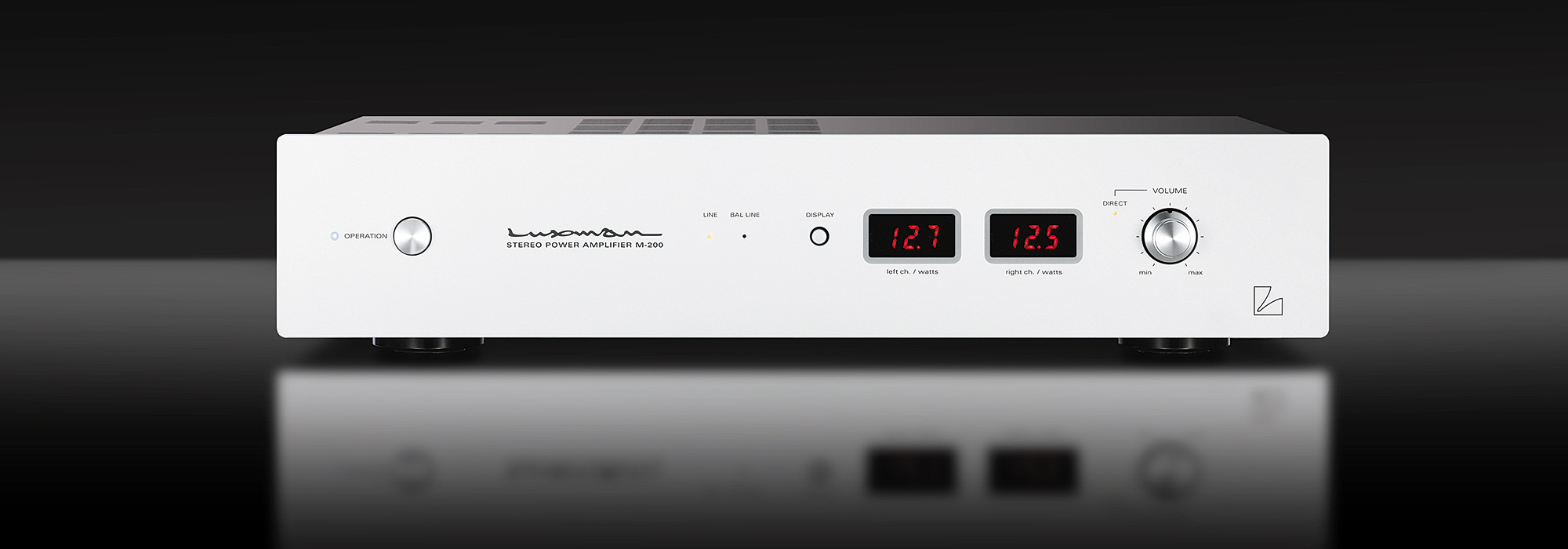 M 200 Power Amplifiers Products Luxman Seeking Higher Sound Low Amplifier With Digital Volume Control Quality