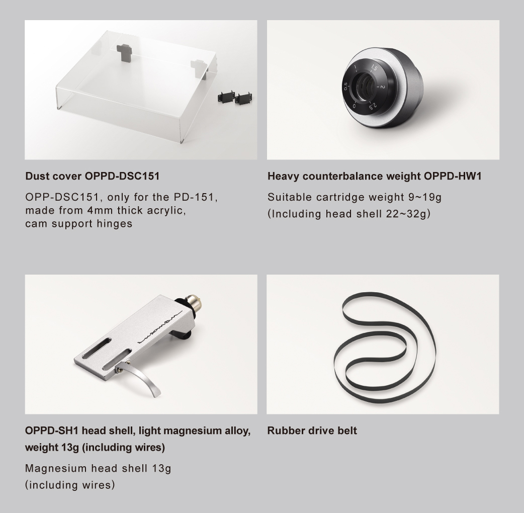 Accessories (available as service parts)